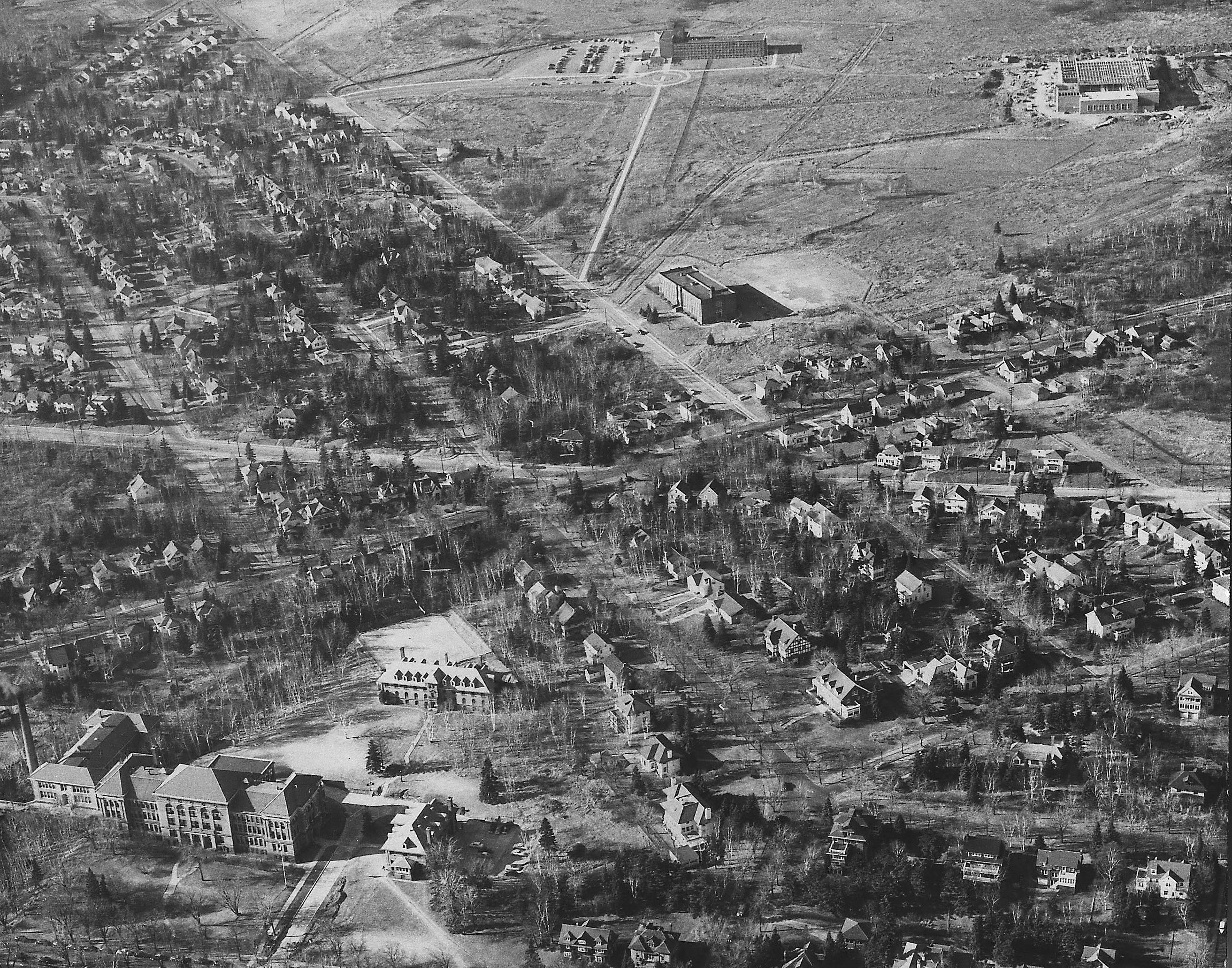 An aerial photo of the UMD campus in 1953.